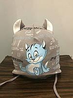 Демисезонная шапка с котом для мальчика