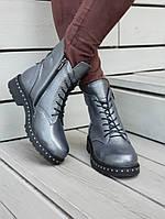 Женские ботинки на шнуровке и молнии в расцветках. ВВ-1-0918