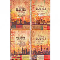 Ежедневник недатированный Города Daily Planner 160 л, линия 204123