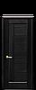 Двери межкомнатные Новый Стиль Грета (Черное стекло) ПВХ DeLuxe