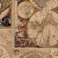 "Крафт-бумага с печатью ""Карта"""