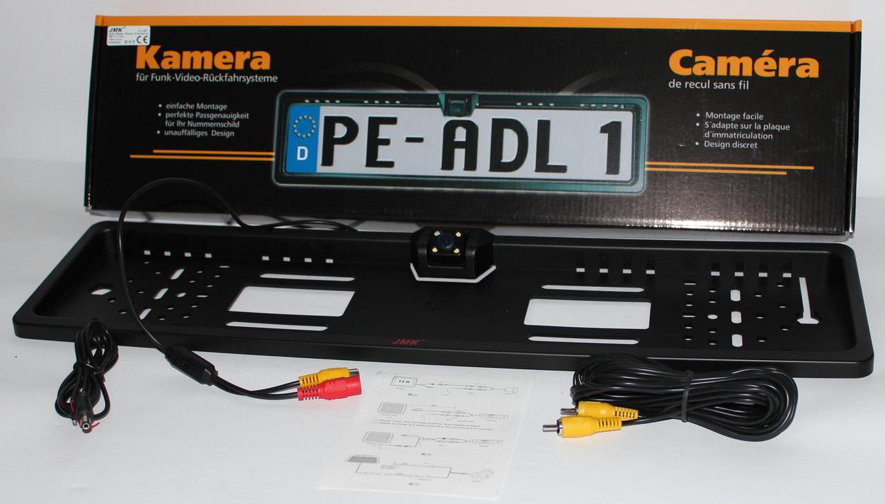 Рамка номера со встроенной камерой заднего вида