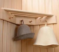 Угловая вешалка для бани на 4 крючка