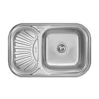 Кухонная мойка стальная Imperial прямоугольная (750x490 мм), глянец, сталь 0,8 мм (IMPHQTF02POL)