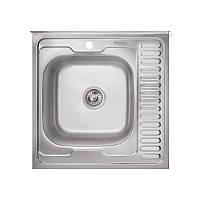 Кухонная мойка стальная Imperial квадратная (600x600 мм), матовая, сталь 0,8 мм (IMP6060LSAT)