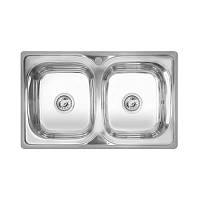 Кухонная мойка стальная Imperial прямоугольная (790x480 мм), глянец, сталь 0,8 мм (IMP401POL)