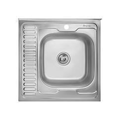 Кухонная мойка стальная Imperial квадратная (600x600 мм), глянец, сталь 0,6 мм (IMP6060R06POL)