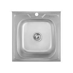 Кухонная мойка стальная Imperial квадратная (500x500 мм), глянец, сталь 0,6 мм (IMP505006POL)