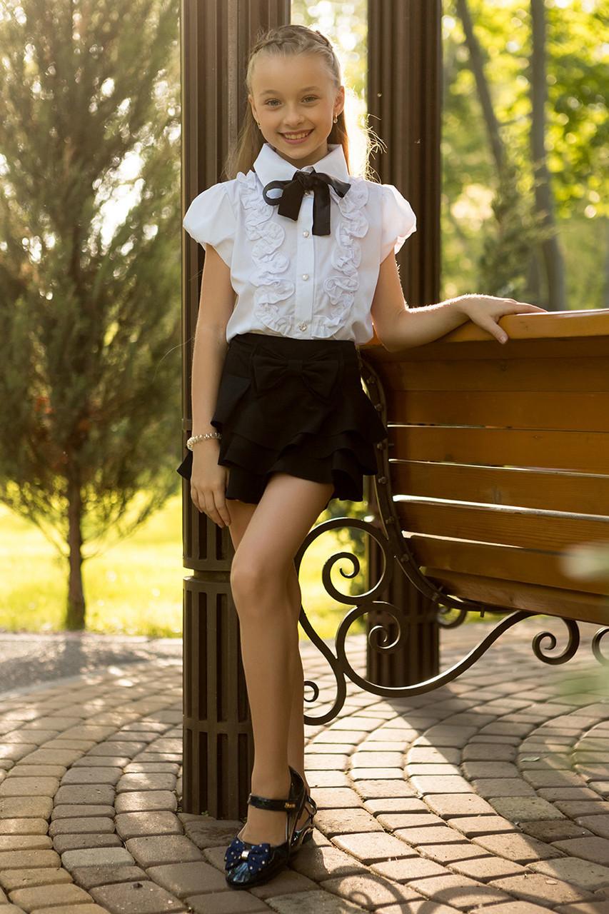 Школьная блузка на девочку B6