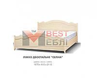 Кровать двуспальная детской Селина (с ламелями / без матраса)