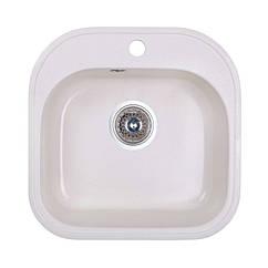🇱🇻 Кухонная гранитная мойка Fosto квадратная (480x490 мм), одночашевая, цвет метель (FOS4849SGA203)