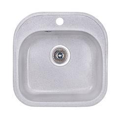 🇱🇻 Кухонная гранитная мойка Fosto квадратная (480x490 мм), одночашевая, цвет олово (FOS4849SGA210)