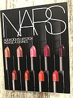 Палетка пробников помад NARS Audacious Lipstick, фото 1