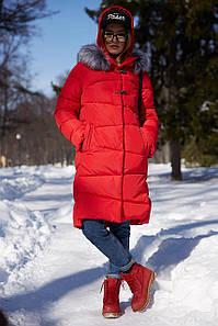 Женская молодежная зимняя куртка Бекки-2 ,мех чернобурки