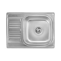 Кухонная мойка стальная Imperial прямоугольная (690x500 мм), декор, сталь 0,8 мм (IMP6950DEC)