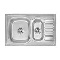 Кухонная мойка стальная Imperial прямоугольная (780x500 мм), декор, сталь 0,8 мм (IMP7850DECD)