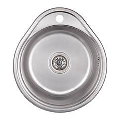 Кухонная мойка стальная Imperial круглая (480x430 мм), микротекстура, сталь 0,6 мм (IMP484306DEC)