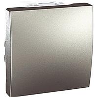 Выключатель 1-клавишный, алюминий, 2 модуля MGU3.261.30