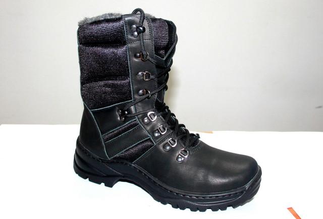 """Кожаные ботинки берцы """"Классик Спорт черные"""""""