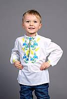 """Вышиванка для мальчика """" Волошка, колос"""" ( арт. BX1-427.0.7 ), фото 1"""