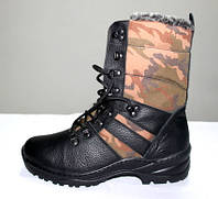 """Кожаные ботинки берцы """"Комо Спорт черные"""", фото 1"""