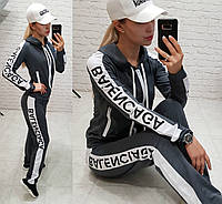 Женский спортивный костюм  двухнить Balenciaga серый S M L XL, фото 1