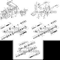 Передняя коробка передач в сборе (опция) на YTO X1304