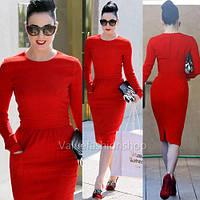 Красное платье карандаш в наличии