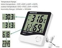 Годинник Термометр, Гігрометр з виносним датчиком HTC-2, фото 2