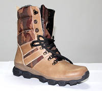 "Кожаные ботинки берцы ""Спорт Комо беж"", фото 1"
