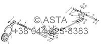 Задняя коробка передач - Блокировка дифференциала и устройства управления на YTO X1304