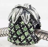 "Шарм бусина Pandora (Пандора) ""Зеленый ананас"""