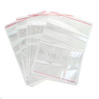 Пакеты полипропиленовые с клапаном и липкой лентой 7х15 см