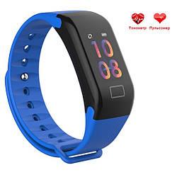 Фитнес браслет WearFit F1C с функцией тонометра (цветной экран). Синий.