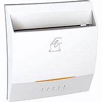 Выключатель карточный с подсветкой, белый, 2 модуля MGU3.283.18