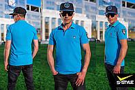Мужская футболка-поло с шевронами