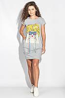 Туника женская с ленточками AG-0006032 Светло-серый