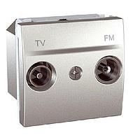 Розетка телевизионная оконечная ТV-R, 2 модуля, алюминий MGU3.452.30