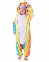 Детское кигуруми радужный единорог / пижама Кигуруми 110 см, фото 1