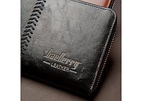 Портмоне Baellerry Leather Model 1 чоловічий гаманець для дешег, карток, телефону, фото 5