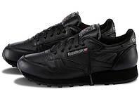 Мужские кроссовки Reebok Classic Black (кожа), фото 1