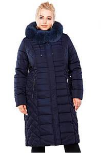 Женское зимнее пальто Людмила-3,мех песец спинка