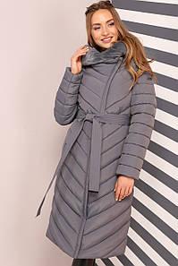 Женское зимнее пальто Фелиция-2, мех мутон
