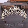 Весільна корона діадема ДАНІЕЛЬ тіара для волосся, діадеми, фото 6
