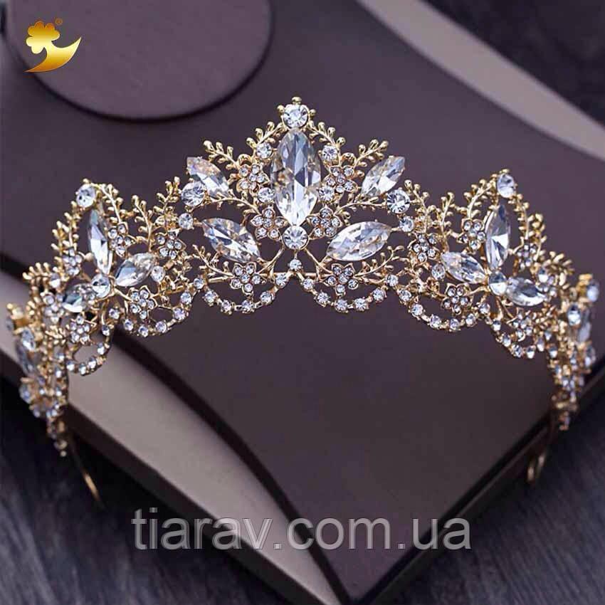 Весільна корона діадема ДАНІЕЛЬ тіара для волосся, діадеми
