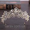 Весільна корона діадема ДАНІЕЛЬ тіара для волосся, діадеми, фото 3