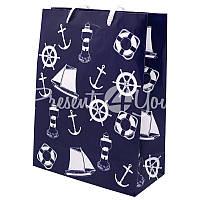 Морской сувенир подарочный пакет, 18х23х8 см.