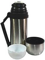 Универсальный термос 2 в 1: пищевой и для напитков hgs 600 мл, нержавеющая сталь, пластиковая ручка, ремешок
