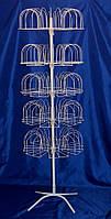 Стойка вертушка для продажи вязаных шапок на 105 мест