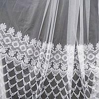 Тюль на фатиновой основе с вышивкой. Оптом и на метраж .Высота 2.8м.